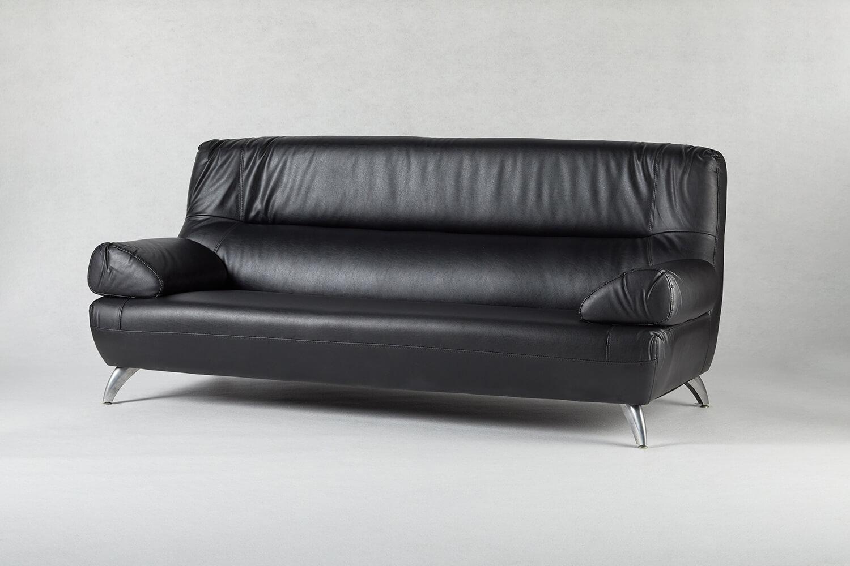 黑色三人座沙發