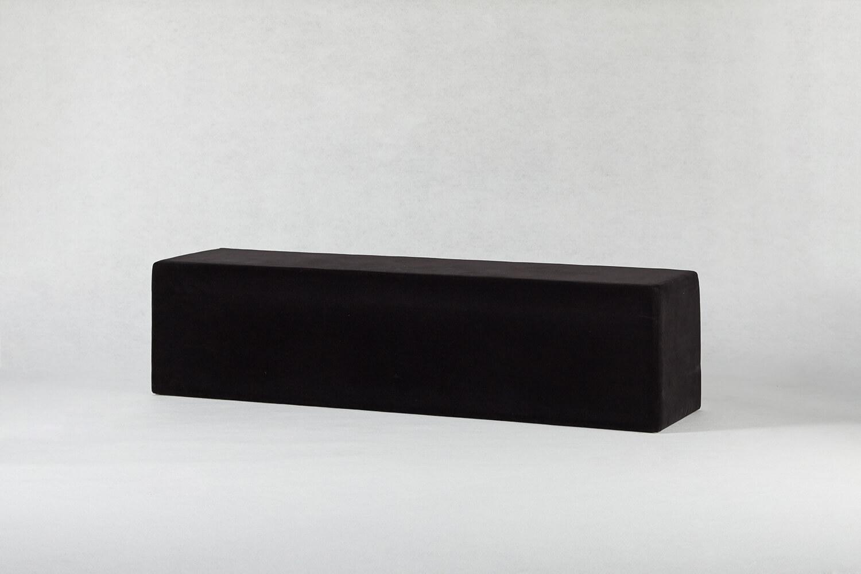 三人座吐司椅(絨布黑)