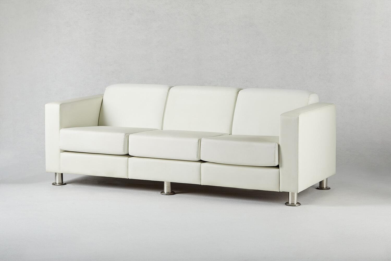 白色三人座沙發 / 方形