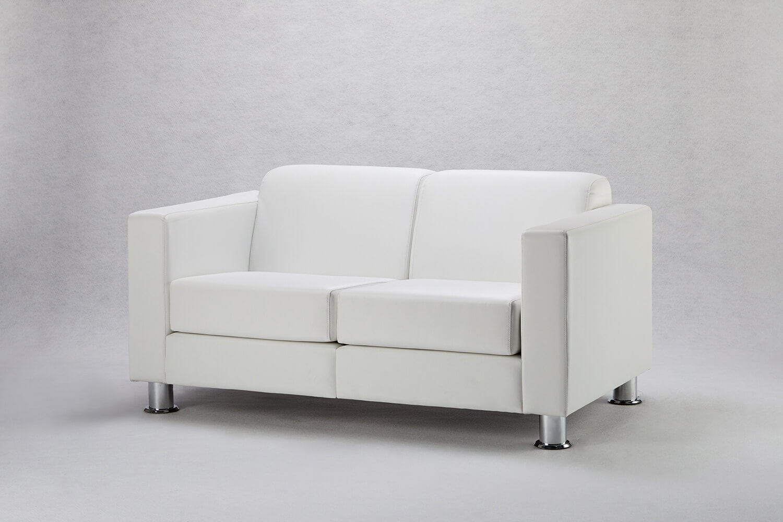 白色雙人沙發 / 方形