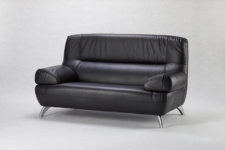 黑色雙人沙發