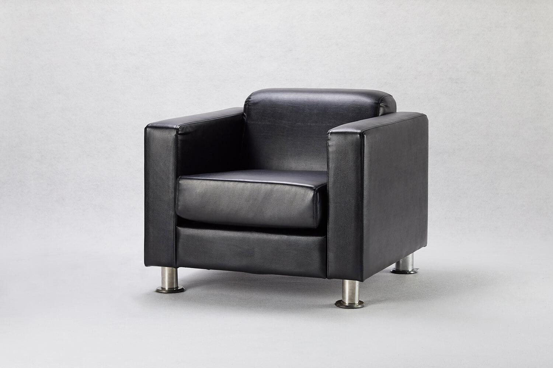 黑色單人沙發 / 方形
