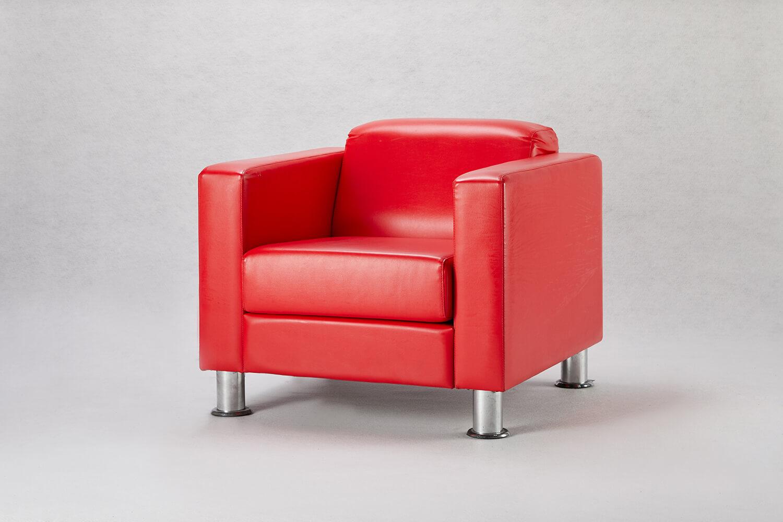 紅色單人沙發 / 方形