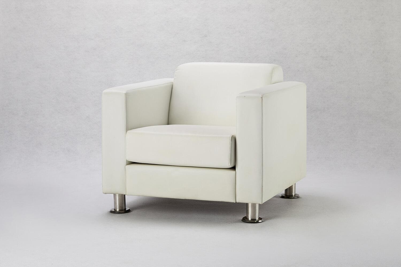 白色單人沙發 / 方形