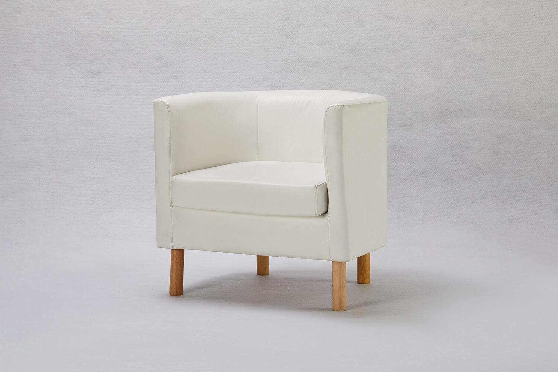 白色U型單人小沙發