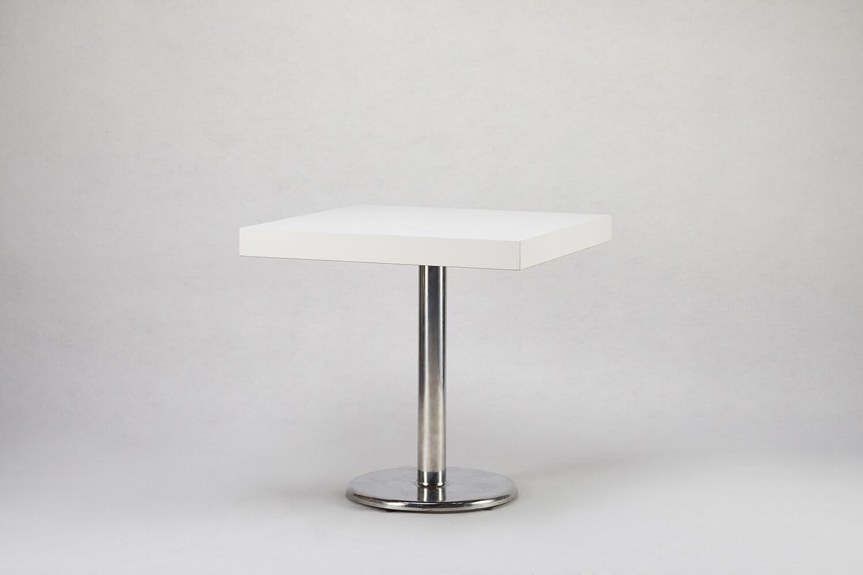 木製方桌(白色)