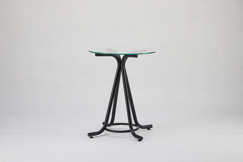 玻璃圓桌(黑)