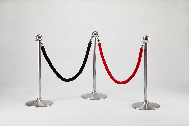 銀色掛式圍欄(黑/紅)