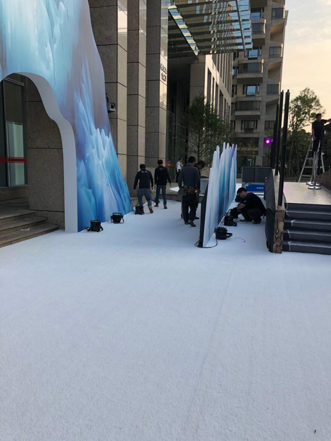 聖誕節活動華南銀行 (白色草皮施工)